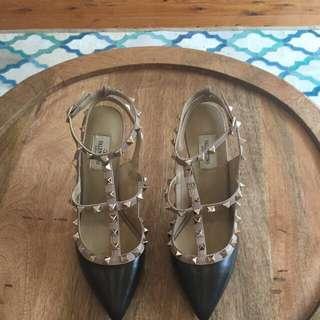 Valentino Rockstud heels...Genuine leather