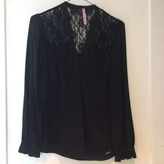 Guess lace button up shirt size XS