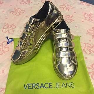 降!Versace Jenas銀色女鞋