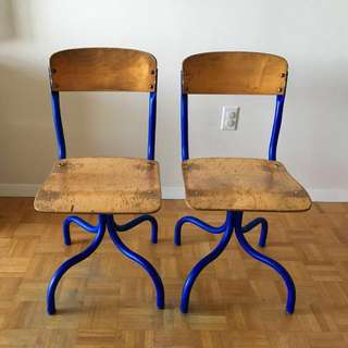 Rare Vintage School Chairs