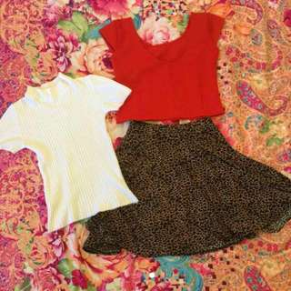 2 Tops 1 Skirt for 250php