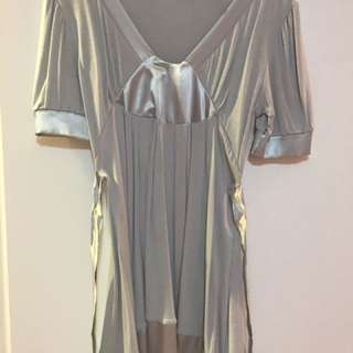 Grey and silver dress from Paris