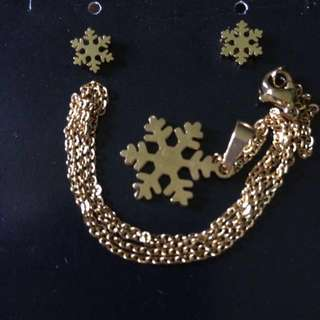 🌺 Snowflakes Necklace&Earring Set