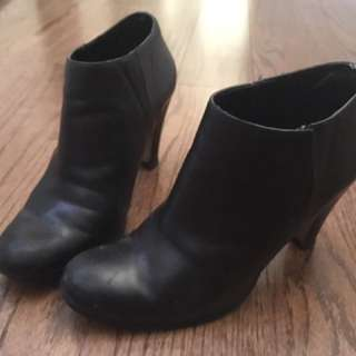 Tahari black booties
