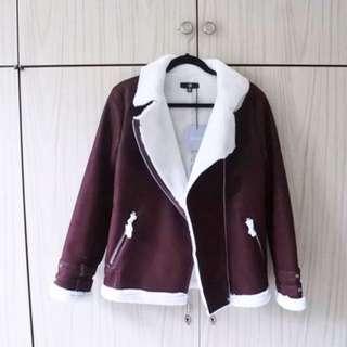 Burgundy Aviator Jacket