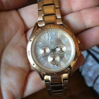 MAKE AN OFFER Tommy Hilfiger Rose Gold Stainless Steel Large Watch