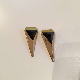 Earrings with Black Rhinestone
