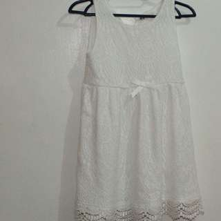 H & M White Dress Size 2-4