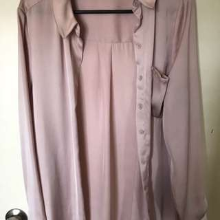 Glassons Pink Satin Shirt