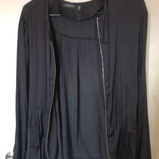 Glassons Black Satin Bomber