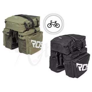 💯 Roswheel 37L Water Resistant Durable 3 in 1 Bicycle Rear Pannier Bag