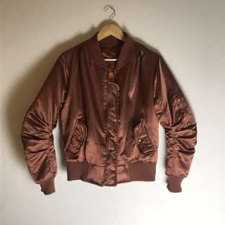 Bronze Bomber with ruching detailing XS