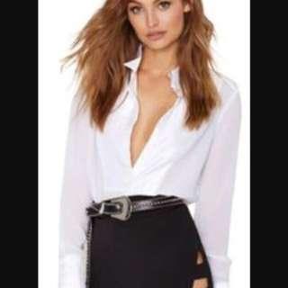 Nasty gal black cut out skirt