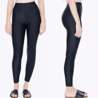 American Apparel - New without tags - Shiny Black Leggings