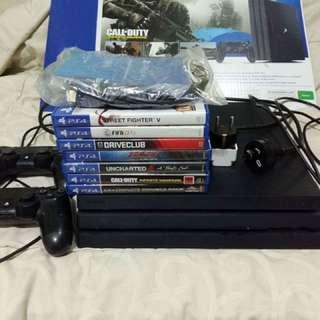 PS 4 pro 1 TB + 6 kaset