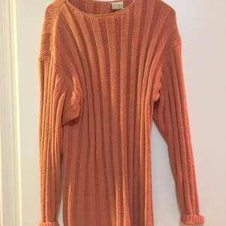 Vintage salmon colour sweater