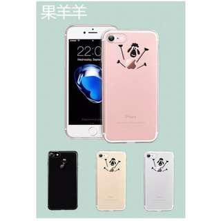 🚚 手機軟殼 iphone 7 &iphone 8適用,韓系笑笑羊款,全包覆式高清透裸機效果