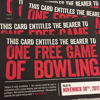 STRIKE BOWLING VOUCHERS (Pay $11 instead of $20/game)