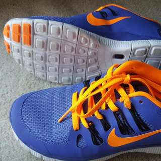 Brand New Size 39 Nike Free Sneakers Shoes Purple And Orange