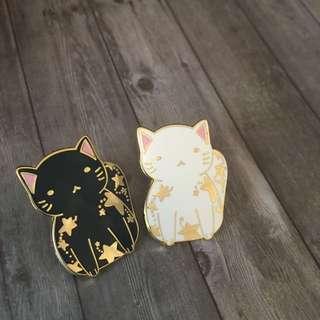 Celestial Kitties Enamel Pin