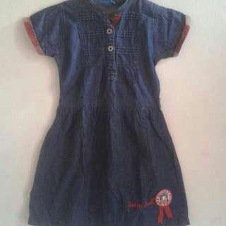 Freeongkir Jabodetabek , Dress Denim Size 3-4y