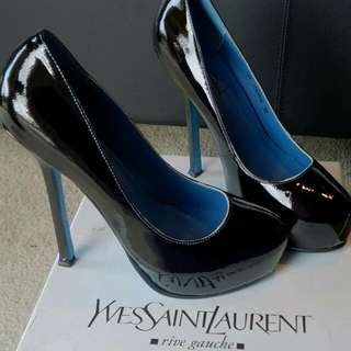 Limited Edition YSL Tribute Patent Double Platform Heels Size 39