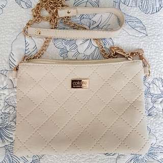 Colette Nude Quilted Cross-Body Bag