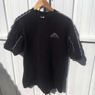 Black kappa sports top