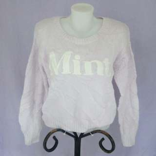 blush pink knitted pullover