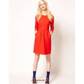 Whistles Camille Textured Dress - Size 6 to small 8