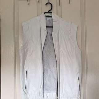 August the label faux leather vest