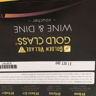 GV Gold Class Tickets and Dining vouchers