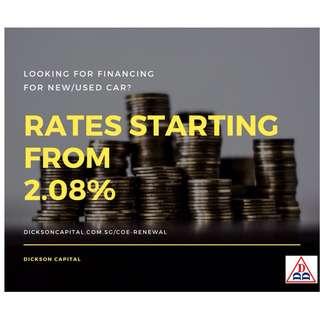 Car Financing (Direct Buyer/Seller), COE Renewal Loan