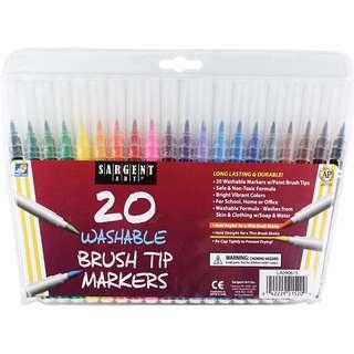Sargent Art Washable Brush Tip Markers