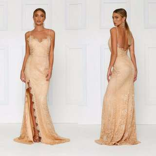 Nude lace gown