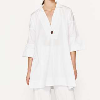 Authentic Zara Poplin Shirt Dress