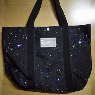 X-girl 星空版tone bag, size: 31.5 x 41cm