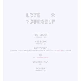 PO BTS LOVE YOURSELF 承 HER [NOT FROM OFFICIAL STORE]
