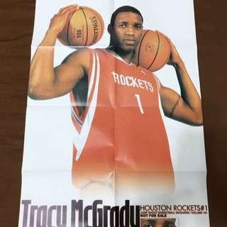 NBA 休斯頓火箭隊 TRACY MCGRADY 雜誌海報