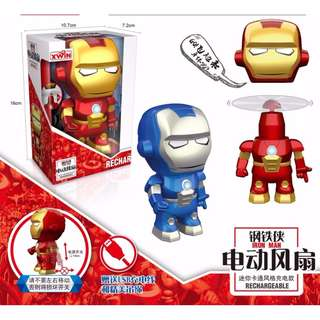 [INSTOCKS] Iron Man / Captain America USB Rechargeable Fan