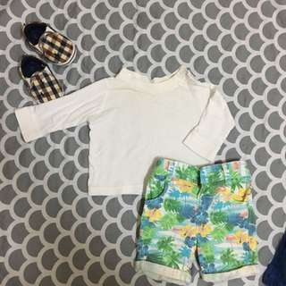 (Pre❤️) Mothercare Shirt & No Brand Pant