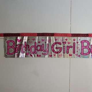 PL Birthday Girl Banner