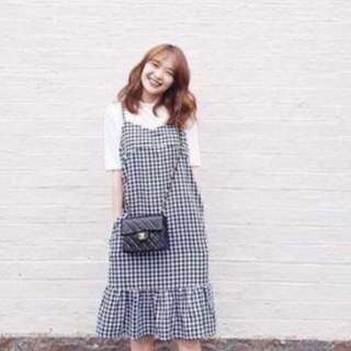 New checkered dress with t-shirt