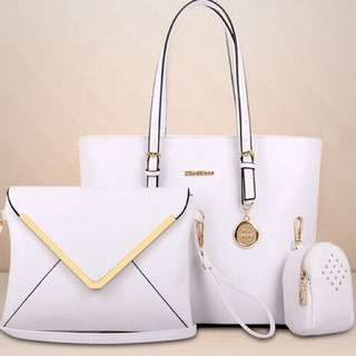 Ladies Leather Hand Bag (3in1)