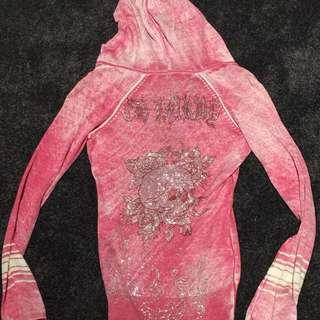 Ed Hardy Hoodie With Crystal Detail