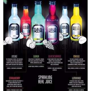 HAUSBOOM Sparkling Real Juice