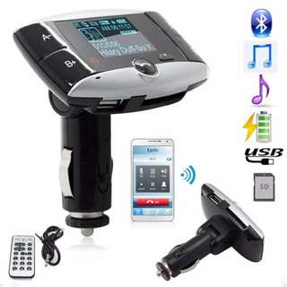 In Car Hands Free Bluetooth Music FM Transmitter Kit - 藍芽車載音樂播放器 免提 - S2521