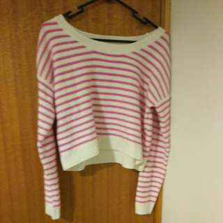 Forever 21 Striped Crop Pullover