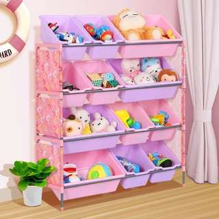 FREE DELIVERY BN Toy Rack 4 Tiers 12 Containers