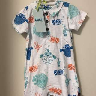NEW WITH TAGS TED BAKER 3-6 MONTHS ONESIE ROMPER